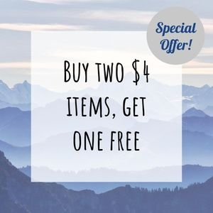 Buy Two $4 Items, Get One Free